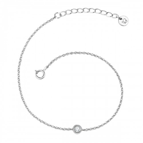 Armband Sterling Silber Topas weiß